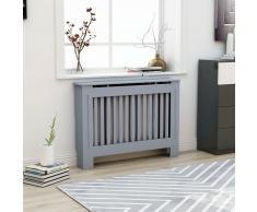 vidaXL Cubierta para radiador MDF gris antracita 112x19x81 cm
