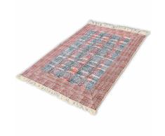 vidaXL Alfombra de algodón 180x120 cm roja