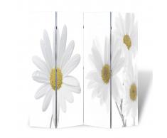 vidaXL Biombo con diseño floral, 160 x 180 cm
