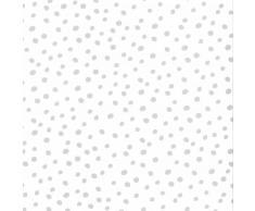 Fabulous World Papel de pared diseño Dots blanco y gris 67106-1