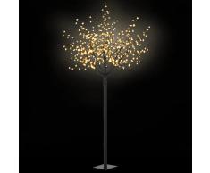 vidaXL Árbol de Navidad flor interior exterior LED IP44 250cm blanco