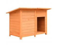 vidaXL Caseta para perros madera maciza de pino y abeto 120x77x86 cm