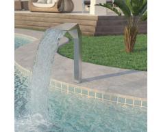 vidaXL Fuente de piscina acero inoxidable 50x30x90 cm plateada