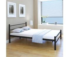 vidaXL Estructura de cama metal negra 140x200 cm