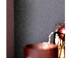 vidaXL Rollos papel pintado no tejido 4 uds gris oscuro brillo liso