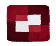RIDDER Alfombrilla de baño Coins 55x50 cm roja 7103806