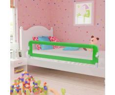 vidaXL Barandilla de seguridad cama de niño poliéster verde 180x42 cm