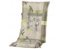 Madison Cojín de silla con respaldo alto Milou 123x50 cm verde