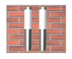 vidaXL 2 Apliques de exterior, lámparas pared, 6 x 36 cm