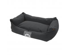 Overseas Cama para perro lona 60x40x18 cm gris antracita