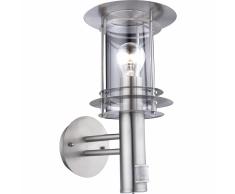 GLOBO Lámpara pared exterior con sensor MIAMI acero inox plata 3151S