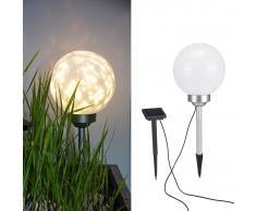 HI Lámpara de bola solar LED de jardín giratoria 20 cm
