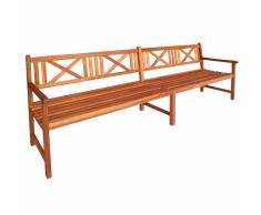vidaXL Banco de madera maciza acacia 240x56x90 cm marrón