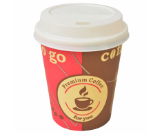 vidaXL Vasos desechables para café con tapas 1000 unidades 8 oz