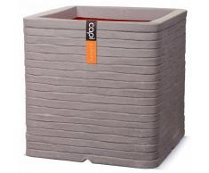 Capi Maceta cuadrada Nature Row 30x30 cm gris PKGRRO902