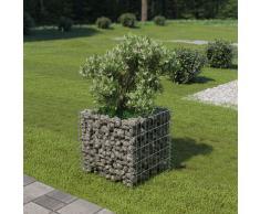 vidaXL Jardinera de gaviones de acero 50x50x50 cm
