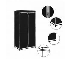 vidaXL Armario negro 75x50x160 cm