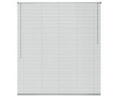 vidaXL Persianas para ventana aluminio 140x130 cm plateada