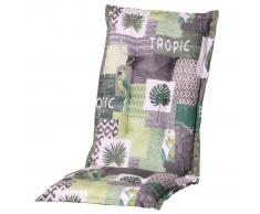 Madison Cojín de silla con respaldo alto Tropic 123x50 cm verde