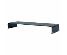 vidaXL Soporte para TV/Elevador monitor cristal negro 100x30x13 cm