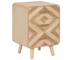 vidaXL Mesita de noche con 3 cajones de madera maciza 40x35x56,5 cm