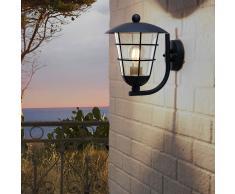 EGLO Lámpara de pared para jardín Pulfero negro