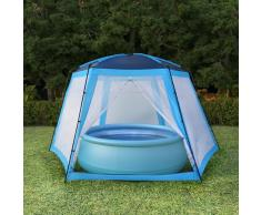 vidaXL Carpa para piscinas 660x580x250 cm azul
