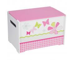 Worlds Apart Caja para juguetes retales 60x39x39 cm rosa WORL230004