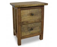 vidaXL Mesita de noche de madera maciza reciclada 40x30x51 cm
