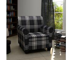 vidaXL Sillón sofá con asiento acolchado de tela negra