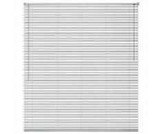 vidaXL Persiana aluminio 160x220 cm plateada