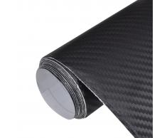 vidaXL Película De Coche Vinilo Fibra Carbon 3D Negro 152 x 200cm
