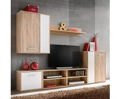 vidaXL Mueble de salón de pared para TV 5 piezas roble Sonoma