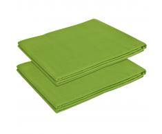 vidaXL Sábana de cama algodón 2 unidades 146x260 cm verde manzana