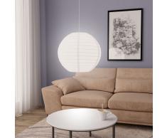 vidaXL Lámpara colgante blanca E27 Ø60 cm