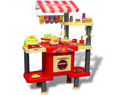 vidaXL Cocina grande de juguete para niños