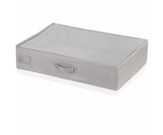 Leifheit Caja de almacenaje bajo la cama pequeña gris 64x45x15cm 80014