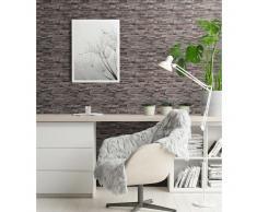 vidaXL Rollos papel pintado no tejido 2 uds ladrillos gris 0,53x10 m