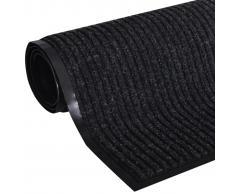 vidaXL Alfombra de entrada de PVC negra, 180 x 240 cm