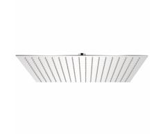 vidaXL Cabezal de ducha cuadrado efecto lluvia acero inoxidable 50x50