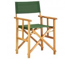 vidaXL Silla de director de madera maciza de acacia verde
