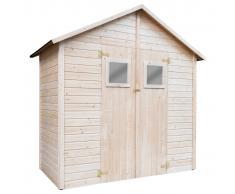 vidaXL Caseta de almacenamiento de jardín de madera 226x124x218 cm