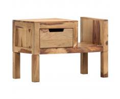 vidaXL Revistero de madera maciza de sheesham 58x30x40 cm