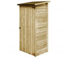 vidaXL Caseta de herramientas de jardín madera de pino FSC 88x76x175cm