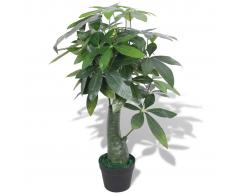 vidaXL Árbol de la fortuna artificial con macetero 85 cm verde