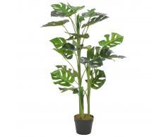 vidaXL Planta artificial monstera con maceta 100 cm verde