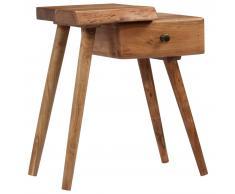 vidaXL Mesita de noche de madera maciza de acacia 45x32x55 cm