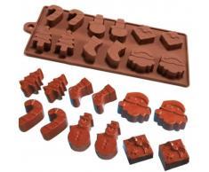 TRIBALSENSATION Molde con 6 formas y 12 piezas para hornear, fondant, tartas de navida