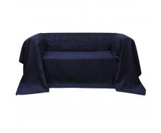 vidaXL Funda color azúl marino para sofá de micro-gamuza, 140 x 210 cm