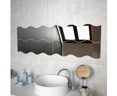 vidaXL Espejos de pared vidrio ondulado 60x18,5 cm 4 unidades